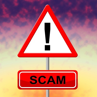 Sign Scam Represents Rip Off And Scams