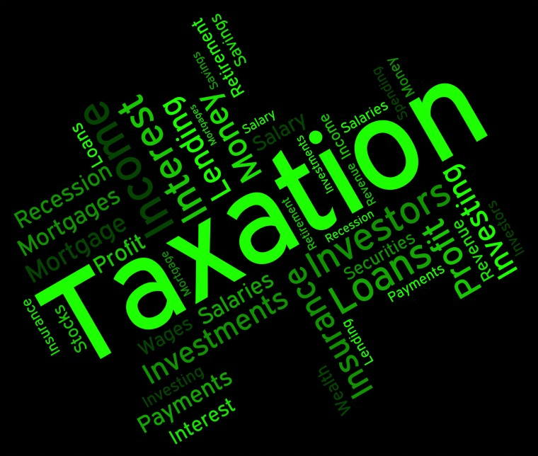 Taxation Word Shows Excise Levy And Duty